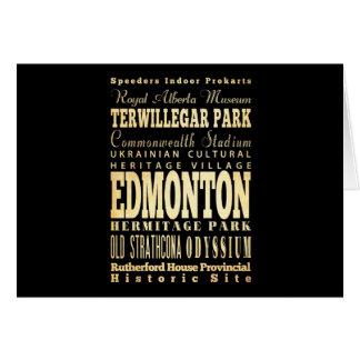 Cartão Cidade de Edmonton da arte da tipografia de Canadá