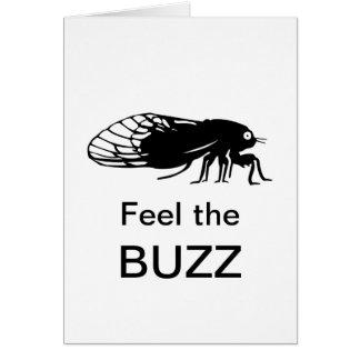 Cartão Cigarra - Magicicada - emergência de inseto