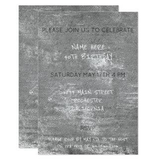 Cartão Cimento sujo afligido aniversário das cinzas de