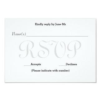 Cartão cinzento da resposta da recepção do erro convite 8.89 x 12.7cm