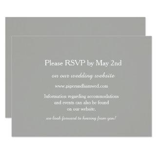 Cartão cinzento da resposta do casamento