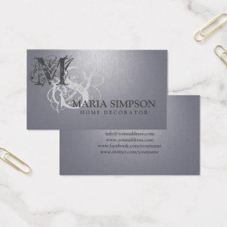 Cartão cinzento do fundo do Lilac Home das
