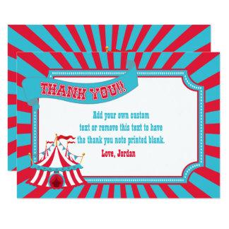 Cartão Circo do vintage, obrigado da barraca do carnaval