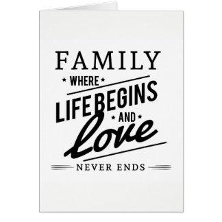 Cartão Citações da família