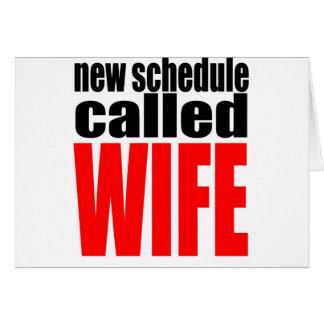Cartão citações da realidade do newlywed da programação