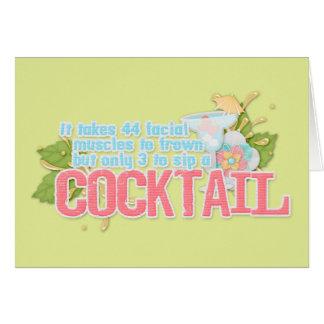 Cartão Citações do cocktail