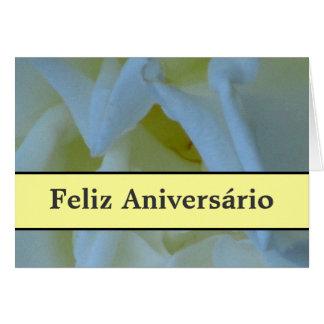 Cartão - claro de Feliz Aniversário - de Azul