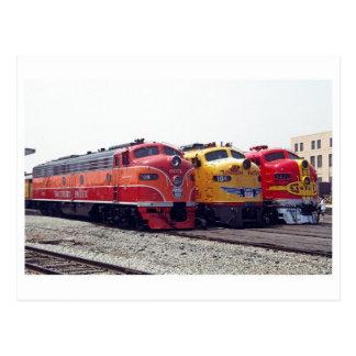 Cartão clássico da estrada de ferro