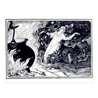 Cartão clássico da ilustração cartão postal