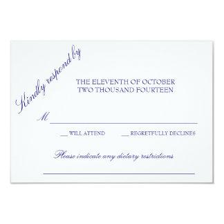 Cartão clássico da resposta convite 8.89 x 12.7cm