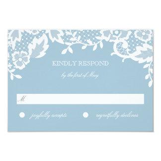 Cartão clássico da resposta do laço convite 8.89 x 12.7cm