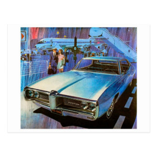 Cartão clássico do automóvel cartão postal