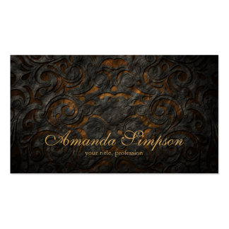 Cartão clássico do desenhador de moda do ouro do o cartão de visita