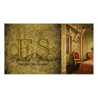 Cartão clássico do estilo do decorador do designer cartão de visita