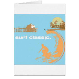 Cartão clássico do surf