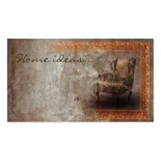 Cartão clássico envelhecido do designer de cartão de visita