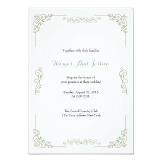 Cartão clássico simples do convite do casamento