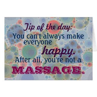 Cartão Cliente bonito do terapeuta da terapia da massagem