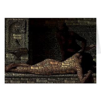 Cartão Cliente histórico da terapia da massagem da