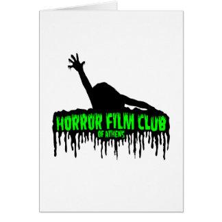 Cartão Clube de filme de terror de Atenas