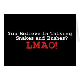 Cartão Cobras e arbustos de fala
