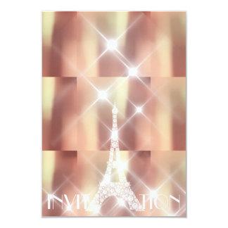 Cartão Cobre Sparkly das estrelas de Paris da torre