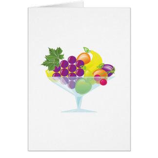 Cartão Cocktail de fruta
