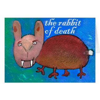 Cartão Coelho da morte [cartão]