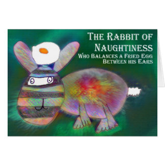 Cartão Coelho do Naughtiness [cartão]