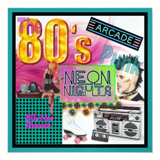 Cartão colagem 80s