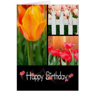 Cartões Colagem Aniversário, Convites Colagem Aniversário