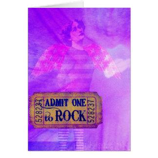 Cartão Colagem de Digitas do anjo do rock and roll