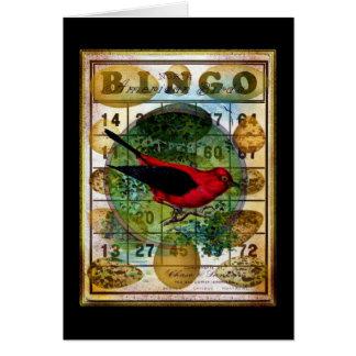 Cartão Colagem do ovo do Bingo de Redbird