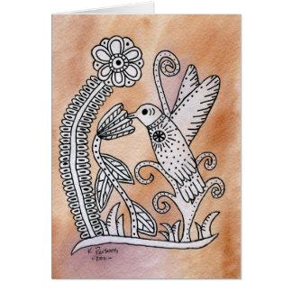 Cartão Colibri, estilo mexicano do latido