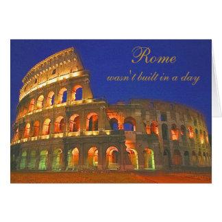 Cartão Coliseu romano