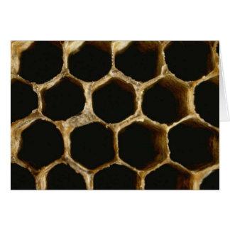 Cartão Colmeia da abelha