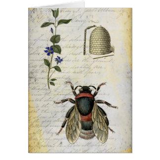 Cartão Colmeia da flor da abelha