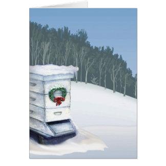 Cartão colmeia do xmas na neve