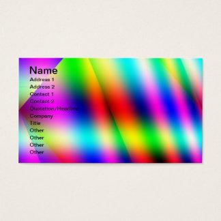Cartão colorido cartão de visita