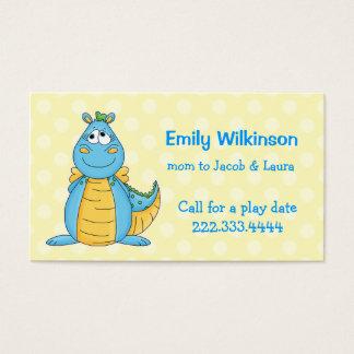 Cartão colorido das mamães do dragão dos desenhos