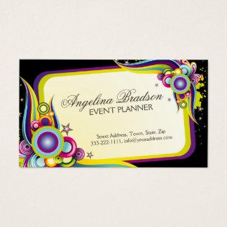 Cartão colorido do design gráfico de planejador de