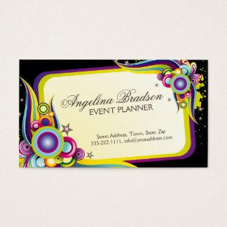 Cartão colorido do design gráfico de planejador de cartão de visita