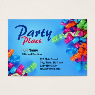 Cartão colorido do presente do partido do