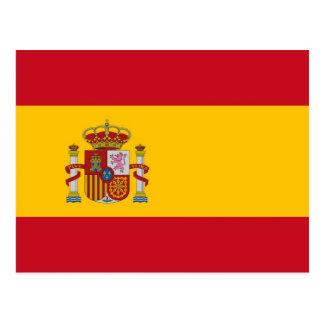 Cartão com a bandeira da espanha
