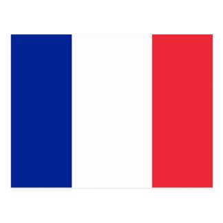 Cartão com a bandeira de France