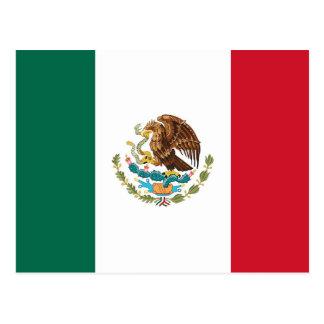 Cartão com a bandeira de México