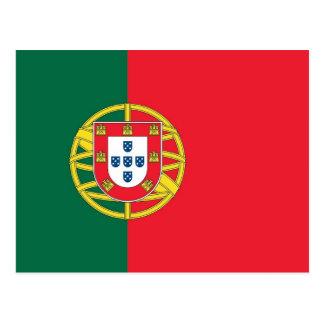 Cartão com a bandeira de Portugal