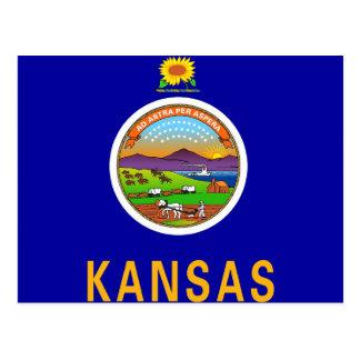 Cartão com a bandeira do estado de Kansas - EUA