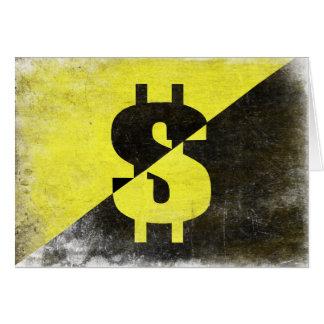 Cartão com a bandeira legal do Anarcho-Capitalista