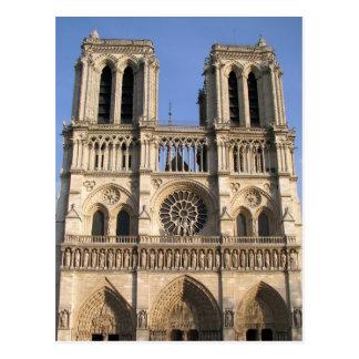 Cartão com catedral do Notre Dame de Paris Cartão Postal